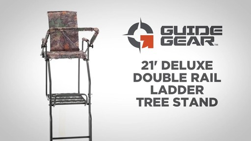 Guide Gear 21' Deluxe Double Rail Ladder Tree Stand - image 1 from the video