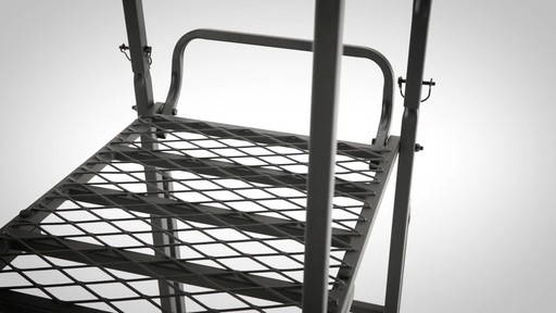 Guide Gear 21' Deluxe Double Rail Ladder Tree Stand - image 3 from the video