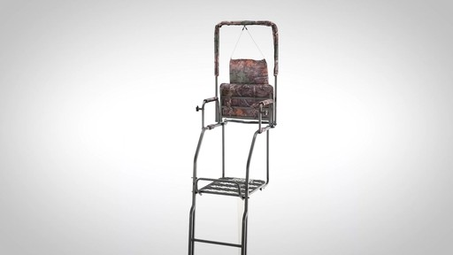 Guide Gear 21' Deluxe Double Rail Ladder Tree Stand - image 8 from the video