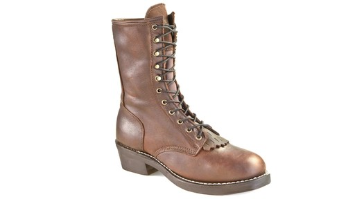 Guide Gear Men's Kiltie Packer Leather Work Boots - image 10 from the video