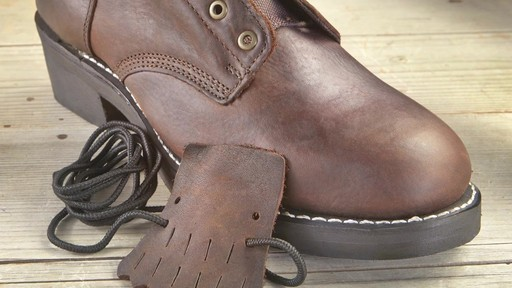 Guide Gear Men's Kiltie Packer Leather Work Boots - image 4 from the video