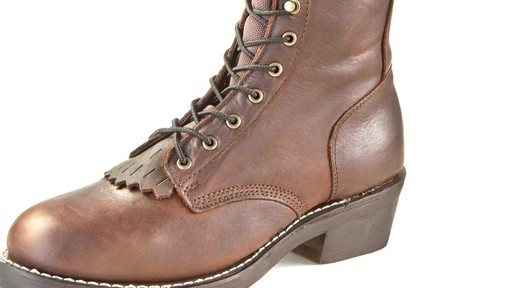 Guide Gear Men's Kiltie Packer Leather Work Boots - image 5 from the video