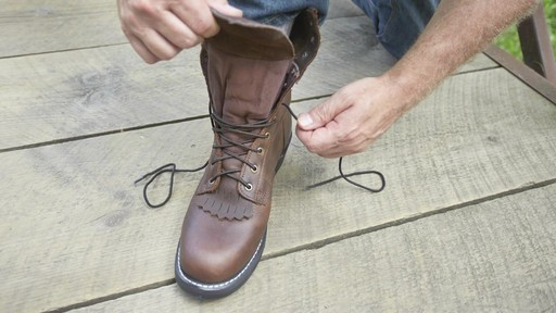 Guide Gear Men's Kiltie Packer Leather Work Boots - image 8 from the video