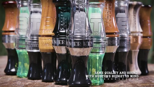 Zink ATM Green Machine Double Reed Polycarbonate Duck Call Gun Smoke - image 6 from the video