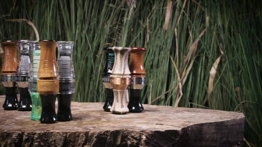 Zink ATM Green Machine Double Reed Polycarbonate Duck Call Gun Smoke - image 9 from the video