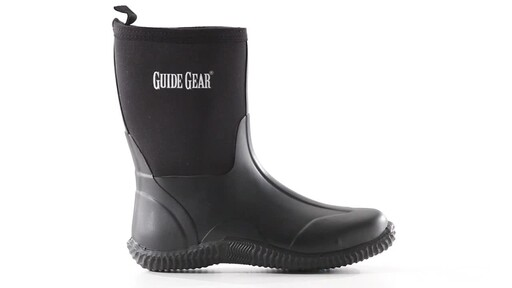 Guide Gear Women's Mid Bogger Rubber Boots 360 View - image 4 from the video