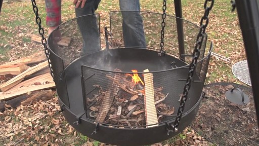Guide Gear XL Heavy-duty Campfire Tripod System - image 3 from the video