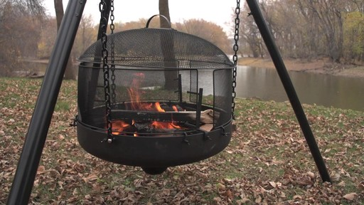 Guide Gear XL Heavy-duty Campfire Tripod System - image 4 from the video