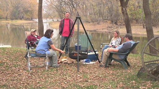Guide Gear XL Heavy-duty Campfire Tripod System - image 5 from the video