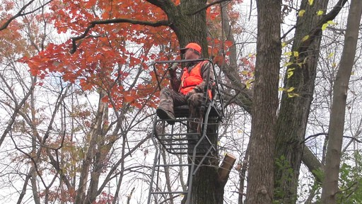 Guide Gear 18' Jumbo Ladder Tree Stand - image 4 from the video