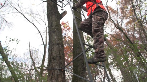 Guide Gear 18' Jumbo Ladder Tree Stand - image 7 from the video