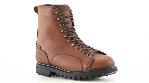 Guide Gear Men's Waterproof Insulated Leather Lace-To-Toe Hunting Boots 400 Grams 360 View - image 1 from the video