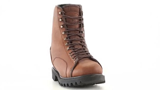 Guide Gear Men's Waterproof Insulated Leather Lace-To-Toe Hunting Boots 400 Grams 360 View - image 2 from the video
