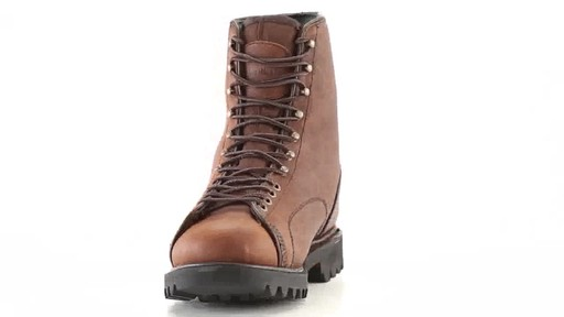Guide Gear Men's Waterproof Insulated Leather Lace-To-Toe Hunting Boots 400 Grams 360 View - image 3 from the video