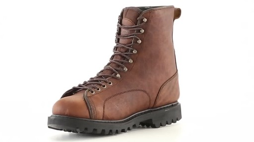 Guide Gear Men's Waterproof Insulated Leather Lace-To-Toe Hunting Boots 400 Grams 360 View - image 4 from the video