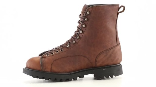 Guide Gear Men's Waterproof Insulated Leather Lace-To-Toe Hunting Boots 400 Grams 360 View - image 5 from the video