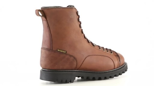 Guide Gear Men's Waterproof Insulated Leather Lace-To-Toe Hunting Boots 400 Grams 360 View - image 9 from the video