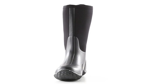Guide Gear Men's Mid Bogger Waterproof Rubber Boots Black 360 View - image 2 from the video