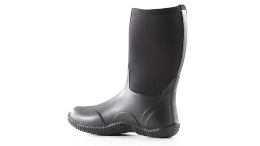 Guide Gear Men's Mid Bogger Waterproof Rubber Boots Black 360 View - image 4 from the video