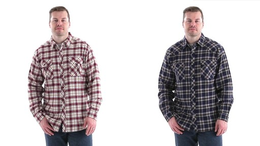 Guide Gear Men's Brushed Flannel Long Sleeve Shirt 360 View - image 10 from the video