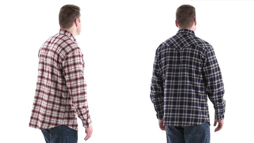 Guide Gear Men's Brushed Flannel Long Sleeve Shirt 360 View - image 4 from the video