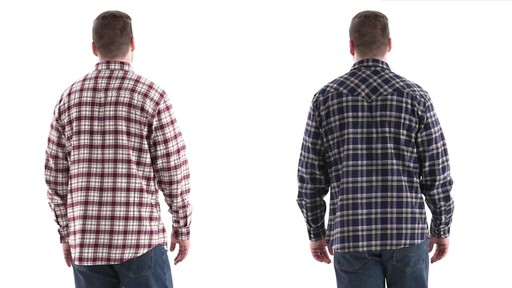 Guide Gear Men's Brushed Flannel Long Sleeve Shirt 360 View - image 5 from the video