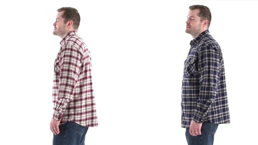 Guide Gear Men's Brushed Flannel Long Sleeve Shirt 360 View - image 7 from the video