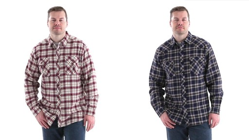 Guide Gear Men's Brushed Flannel Long Sleeve Shirt 360 View - image 9 from the video