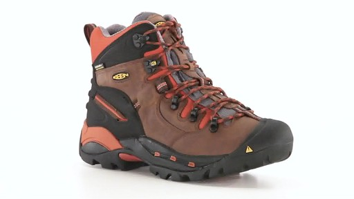 KEEN Utility Men's Pittsburgh Waterproof Soft Toe Work Boots 360 View - image 10 from the video