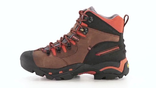 KEEN Utility Men's Pittsburgh Waterproof Soft Toe Work Boots 360 View - image 4 from the video