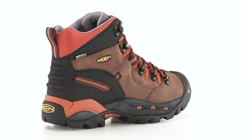 KEEN Utility Men's Pittsburgh Waterproof Soft Toe Work Boots 360 View - image 8 from the video