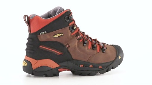 KEEN Utility Men's Pittsburgh Waterproof Soft Toe Work Boots 360 View - image 9 from the video