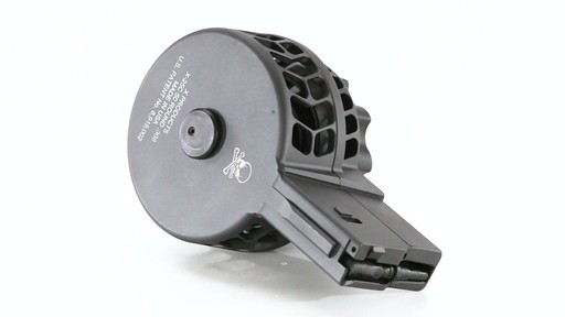 X-Products X-25-S AR-10 .308 Winchester Skeletonized Drum Magazine 50 Rounds 360 View - image 1 from the video