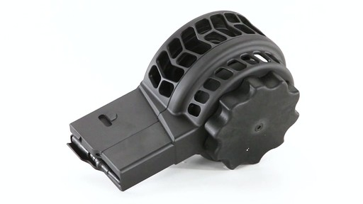 X-Products X-25-S AR-10 .308 Winchester Skeletonized Drum Magazine 50 Rounds 360 View - image 4 from the video