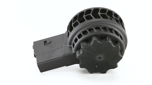 X-Products X-25-S AR-10 .308 Winchester Skeletonized Drum Magazine 50 Rounds 360 View - image 5 from the video