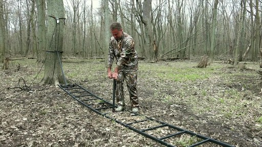 Primal Tree Stands 22' Mac Daddy Deluxe Ladder Tree Stand With Jaw And Truss Stabilizer System - image 2 from the video