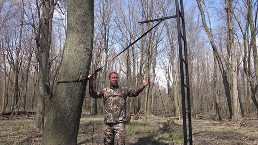 Primal Tree Stands 22' Mac Daddy Deluxe Ladder Tree Stand With Jaw And Truss Stabilizer System - image 6 from the video