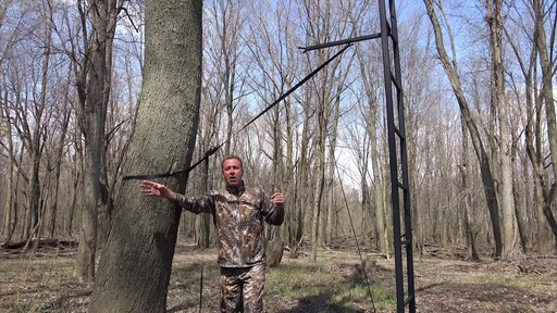 Primal Tree Stands 22' Mac Daddy Deluxe Ladder Tree Stand With Jaw And Truss Stabilizer System - image 7 from the video