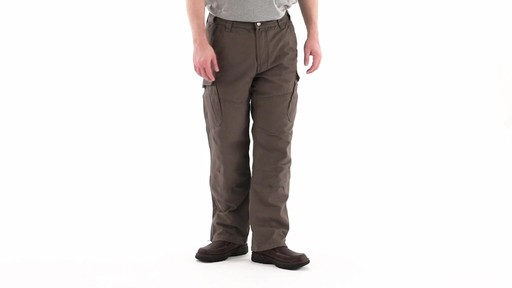 Guide Gear Men's Quilt-lined Canvas Work Pants 360 View - image 1 from the video