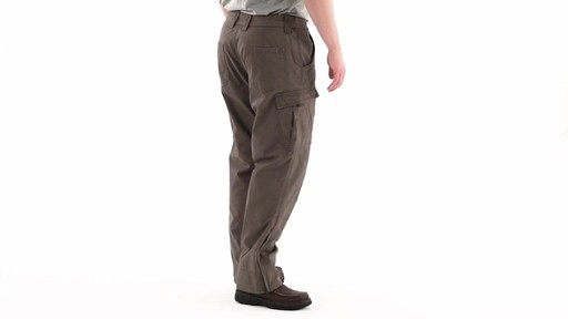 Guide Gear Men's Quilt-lined Canvas Work Pants 360 View - image 3 from the video