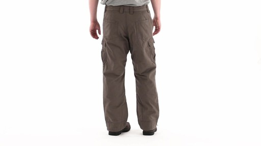 Guide Gear Men's Quilt-lined Canvas Work Pants 360 View - image 4 from the video