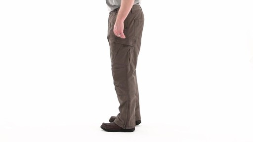 Guide Gear Men's Quilt-lined Canvas Work Pants 360 View - image 6 from the video