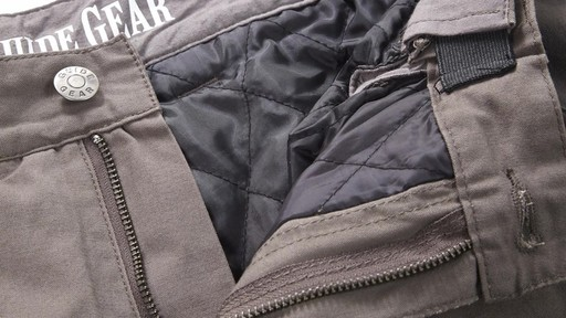 Guide Gear Men's Quilt-lined Canvas Work Pants 360 View - image 9 from the video