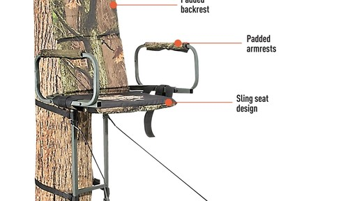 Guide Gear Deluxe Hunting Hang-on Tree Stand - image 4 from the video
