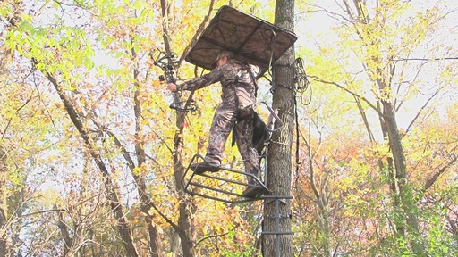 Guide Gear Deluxe Hunting Hang-on Tree Stand - image 6 from the video