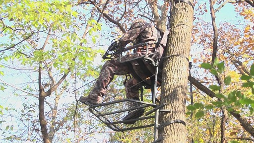 Guide Gear Deluxe Hunting Hang-on Tree Stand - image 8 from the video