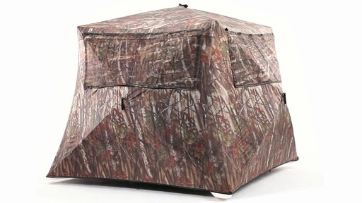 Guide Gear Camo Flare Out 5-Hub Ground Hunting Blind 360 View - image 1 from the video