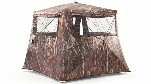 Guide Gear Camo Flare Out 5-Hub Ground Hunting Blind 360 View - image 10 from the video