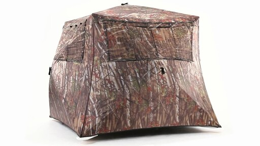 Guide Gear Camo Flare Out 5-Hub Ground Hunting Blind 360 View - image 5 from the video