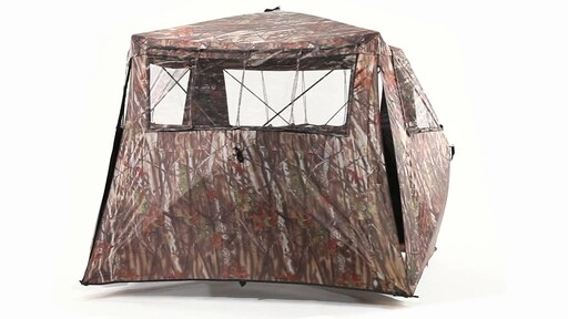 Guide Gear Camo Flare Out 5-Hub Ground Hunting Blind 360 View - image 6 from the video